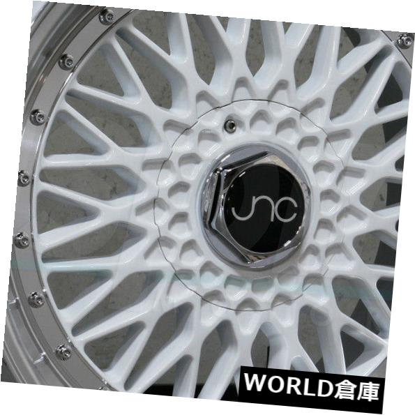 海外輸入ホイール 18x8.5 JNC 004 JNC004 4x100 / 4x114.3 30ホワイトマシンリップホイールNew set(4) 18x8.5 JNC 004 JNC004 4x100/4x114.3 30 White Machine Lip Wheel New set(4)