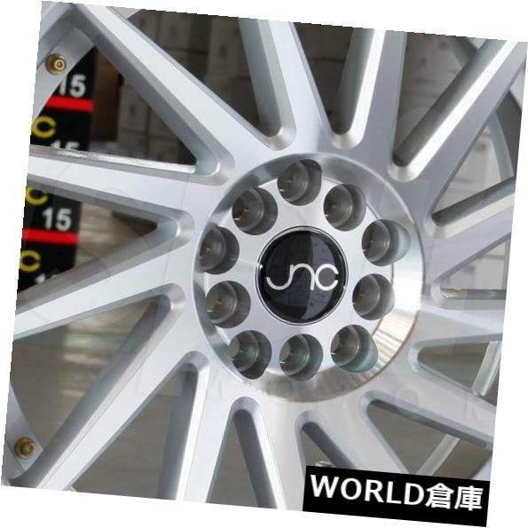 海外輸入ホイール 18x8.5 JNC 051 JNC051 5x100 35シルバーのマシンフェイス。 ホイールニューセット(4) 18x8.5 JNC 051 JNC051 5x100 35 Silver Machine Face. Wheel New set(4)