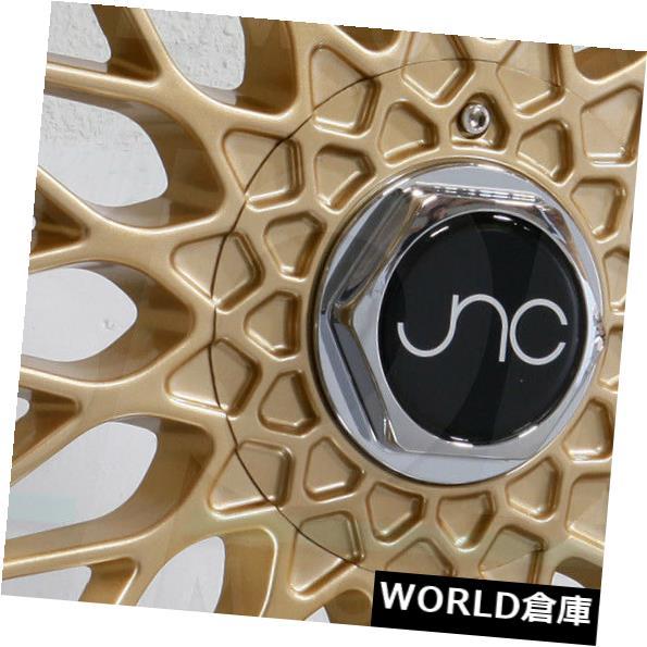海外輸入ホイール 17x10 JNC 004 JNC004 5x112 / 5x120 25 Gold Machine Lip Wheel新しいセット(4) 17x10 JNC 004 JNC004 5x112/5x120 25 Gold Machine Lip Wheel New set(4)