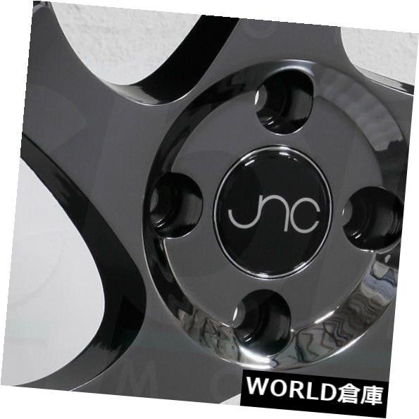 海外輸入ホイール 16x8 JNC 034 JNC034 4x100 25ブラッククロームホイールリムセット(4) 16x8 JNC 034 JNC034 4x100 25 Black Chrome Wheel Rims set(4)