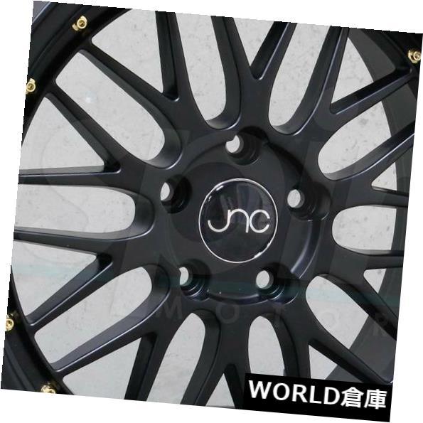 海外輸入ホイール 18x8 JNC 005 JNC005 5x100 34黒。 ホイールニューセット(4) 18x8 JNC 005 JNC005 5x100 34 Black. Wheel New set(4)