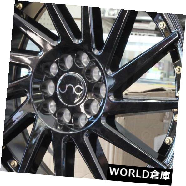 海外輸入ホイール 18x8.5 JNC 051 JNC051 5x100 / 5x114.3 35グロスブラック。 ホイールニューセット(4) 18x8.5 JNC 051 JNC051 5x100/5x114.3 35 Gloss Black. Wheel New set(4)