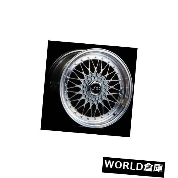 海外輸入ホイール 18x8.5 JNC 004 JNC004 4x100 / 4x114.3 30ハイパーブラックマシンリップホイールリムセット(4) 18x8.5 JNC 004 JNC004 4x100/4x114.3 30 Hyper Black Machine Lip Wheel Rims set(4)