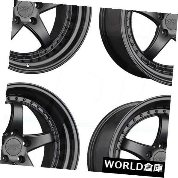 海外輸入ホイール 18x8.5 XXR 565 5x114.3 35フラットブラックグロスブラックリップホイールリムセット(4) 18x8.5 XXR 565 5x114.3 35 Flat Black Gloss Black Lip Wheels Rims Set(4)
