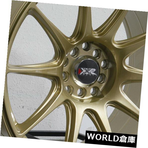 海外輸入ホイール 17x8.25 / 17x9.7 5 XXR 527 5x100 / 5x114.3 25/25ゴールドホイールリムセット(4) 17x8.25/17x9.75 XXR 527 5x100/5x114.3 25/25 Gold Wheels Rims Set(4)