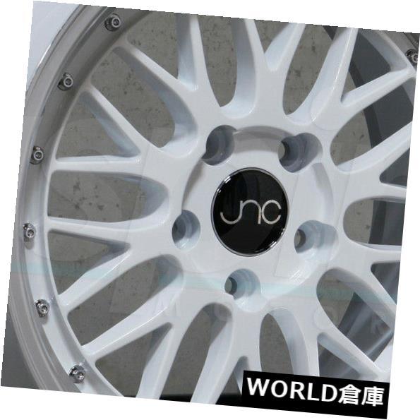 海外輸入ホイール 17x9.5 JNC 005 JNC005 4x100 4x114.3 30ホワイトマシンリップホイールNew set 4 17x9.5 JNC 005 JNC005 4x100 4x114.3 30 White Machine Lip