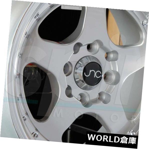 【国内発送】 海外輸入ホイール 17x9 JNC 010 JNC010 5x114.3 25シルバーマシンリップホイールリムセット(4) 17x9 JNC 010 JNC010 5x114.3 25 Silver Machine Lip Wheel Rims set(4), free design(フリーデザイン) 3ed1ff1f