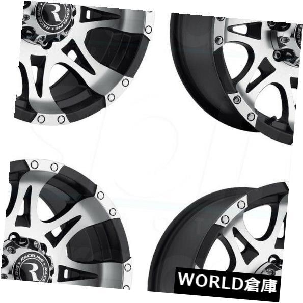 【特価】 海外輸入ホイール 16x8 Raceline/ 982 Raptor 5x5.5/ 5x5.5/5x139.7 5x139.7 0機械加工ブラックホイールリムセット(4) Machined 16x8 Raceline 982 Raptor 5x5.5/5x139.7 0 Machined Black Wheels Rims Set(4), お茶の山麓園:e6389a0f --- mail.durand-il.com