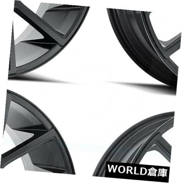 海外輸入ホイール 18x8 MKW A614 5x114.3 40フルサテンブラックホイールリムセット 4 18x8 MKW A614 5x114.3 40 Full Satin Black Wheels Rims Set 4