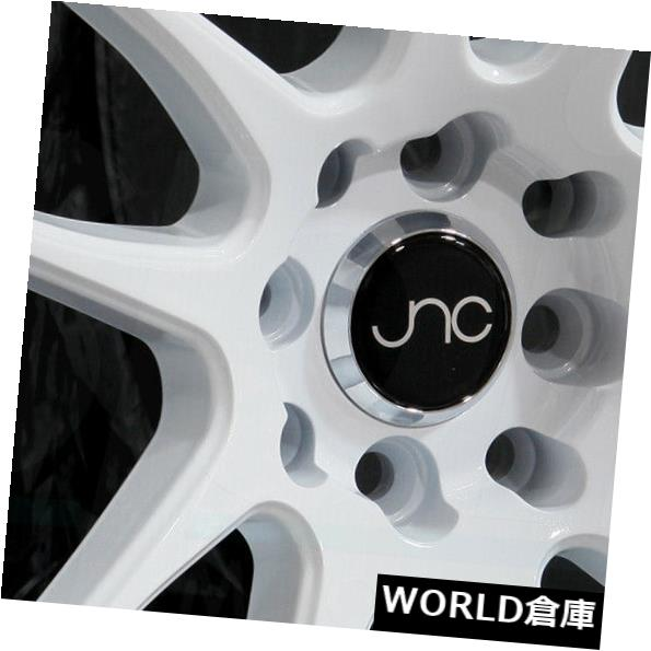 良質  海外輸入ホイール 17x8 Wheel JNC 030 JNC030 JNC030 4x100/ 4x114.3 32ホワイトホイール新しいセット(4) 32 17x8 JNC 030 JNC030 4x100/4x114.3 32 White Wheel New set(4), オフィストレンド:cded256b --- ragnarok-spacevikings.pl
