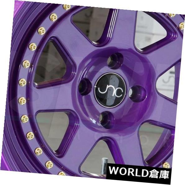 カウくる 海外輸入ホイール 17x8 JNC set(4) 048 New JNC048 4x100 JNC 30キャンディパープル。 ホイールニューセット(4) 17x8 JNC 048 JNC048 4x100 30 Candy Purple. Wheel New set(4), 夢きもの:88b00d04 --- mail.durand-il.com
