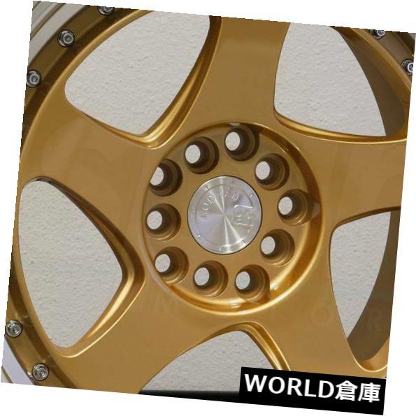 偉大な 海外輸入ホイール 17x9 Aodhan AH01 AH1 5x100 / 5x114.3 35ゴールドホイールリムセット(4) 17x9 Aodhan AH01 AH1 5x100/5x114.3 35 Gold Wheels Rims Set(4), ニシトウキョウシ e3fedd82