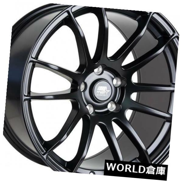 速くおよび自由な 海外輸入ホイール 18x8.5 MST MT33 5x114.3 32マットブラックホイールリムセット(4) 18x8.5 MST MT33 5x114.3 32 Matte Black Wheels Rims Set(4), 豊前市 57c04e3b