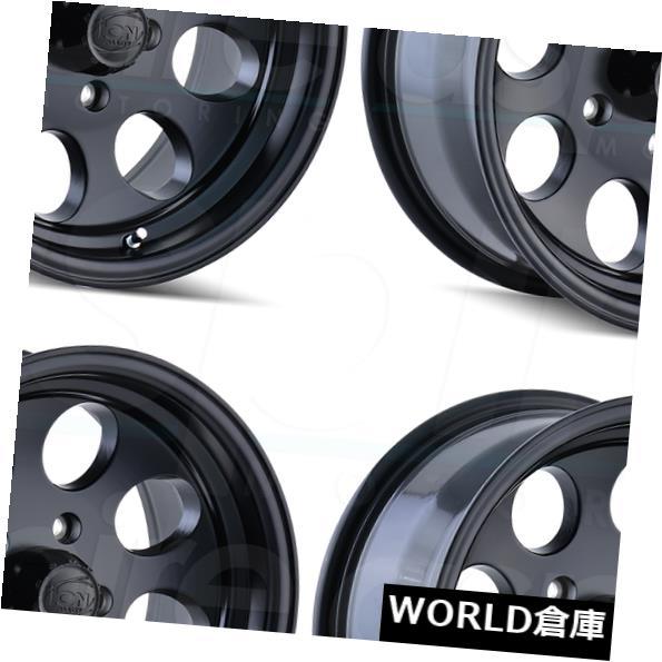 海外輸入ホイール 18x9イオン171 8x6.5 8x165.1 0マットブラックホイールリムセット 4 18x9 Ion 171 8x6.5 8x165.1 0 Matte Black Wheels Rims Set 4