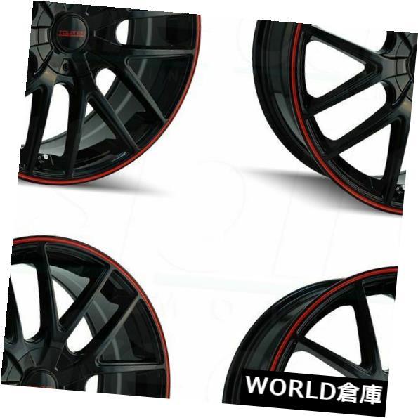 雑誌で紹介された 海外輸入ホイール 18x8 Touren Rims TR60 5x110 18x8/ 5x115 40 40ブラックレッドリングホイールリムセット(4) 18x8 Touren TR60 5x110/5x115 40 Black Red Ring Wheels Rims Set(4), オガチグン:0741e5d7 --- estoresa.co.za