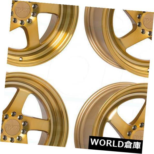 人気満点 海外輸入ホイール 18x9.5 F1R F28 5x100 / 5x114.3 20マシンゴールドホイールリムセット(4) 18x9.5 F1R F28 5x100/5x114.3 20 Machine Gold Wheels Rims Set(4), 原町市 0054245d