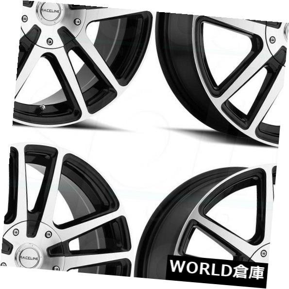 海外輸入ホイール 17x7.5 Raceline 145M Encore 4x100 / 4x108 40加工ブラックホイールリムセット(4) 17x7.5 Raceline 145M Encore 4x100/4x108 40 Machined Black Wheels Rims Set(4)