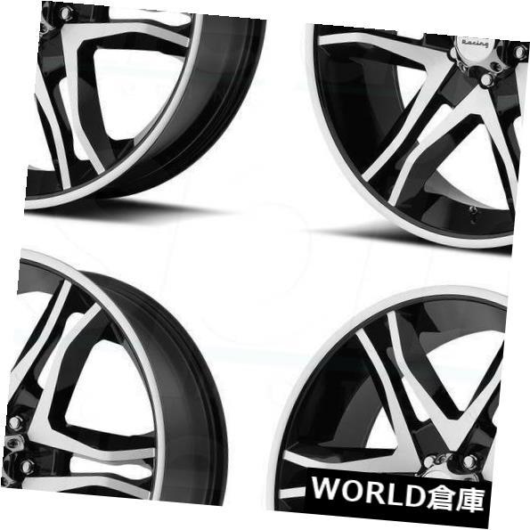 海外輸入ホイール 17x8 American Racing AR893メインライン6x135 25ブラックマシンホイールリムセット(4) 17x8 American Racing AR893 Mainline 6x135 25 Black Machine Wheels Rims Set(4)