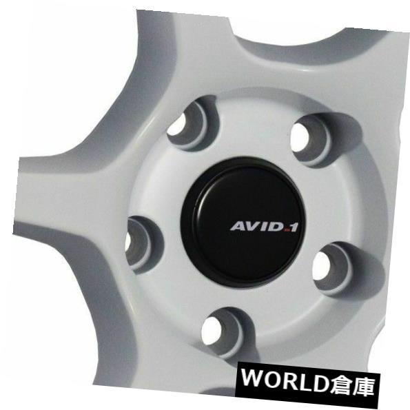 海外輸入ホイール 18x8.5 / 18x9.5 AVID1 AV26 5x114.3 35/38ホワイトホイールリムセット(4) 18x8.5/18x9.5 AVID1 AV26 5x114.3 35/38 White Wheels Rims Set(4)