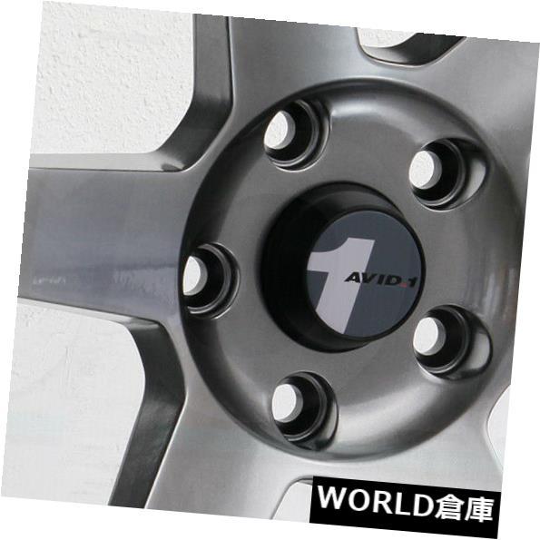 海外輸入ホイール 18x9.5 AVID1 AV06 AV-06 5x100 38ハイパーブラックホイールリムセット(4) 18x9.5 AVID1 AV06 AV-06 5x100 38 Hyper Black Wheels Rims Set(4)