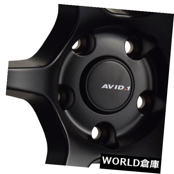 海外輸入ホイール 18x8.5 / 18x9.5 AVID1 AV26 5x114.3 35/38ブラックホイールリムセット(4) 18x8.5/18x9.5 AVID1 AV26 5x114.3 35/38 Black Wheels Rims Set(4)