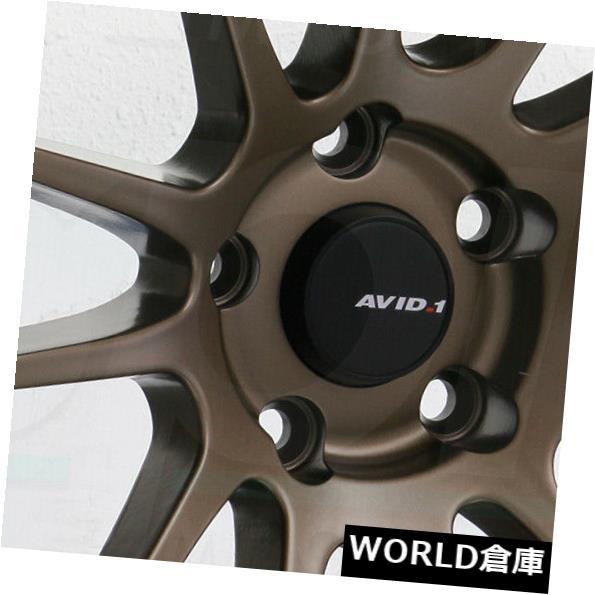【★超目玉】 海外輸入ホイール 18x9.5 AVID1 AV20 AV-20 5x114.3 22マットブロンズホイールリムセット(4) 18x9.5 AVID1 AV20 AV-20 5x114.3 22 Matte Bronze Wheels Rims Set(4), ナカシベツチョウ a21b0b33