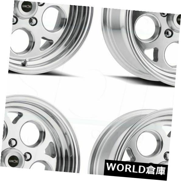 海外輸入ホイール 15x10 Vision 561 Sport Mag 5x4.75 -25ポリッシュドホイールリムセット(4) 15x10 Vision 561 Sport Mag 5x4.75 -25 Polished Wheels Rims Set(4)