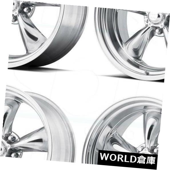 海外輸入ホイール 14x6 / 14x7 VN515 Torqスラスト1個5x114.3 / 5x4.5 -2/0ポリッシュホイールセット(4) 14x6/14x7 VN515 Torq Thrust 1 Pc 5x114.3/5x4.5 -2/0 Polished Wheels Set(4)