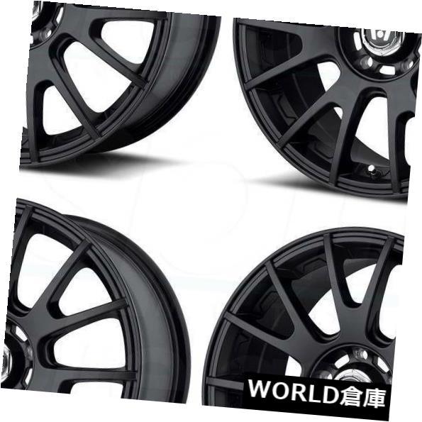 海外輸入ホイール 17x8 Motegi MR118 5x120 32マットブラックホイールリムセット(4) 17x8 Motegi MR118 5x120 32 Matte Black Wheels Rims Set(4)