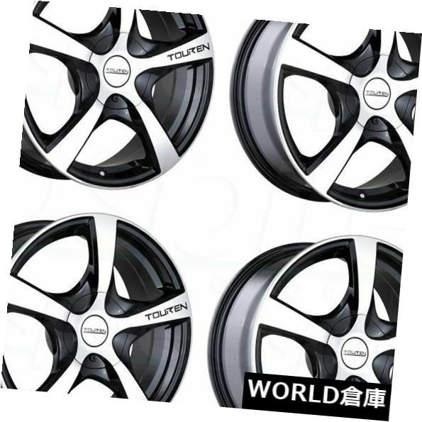 海外輸入ホイール 17x7 Touren TR9 5x100 / 5x114.3 42ブラックマシニングホイールリムセット(4) 17x7 Touren TR9 5x100/5x114.3 42 Black Machined Wheels Rims Set(4)