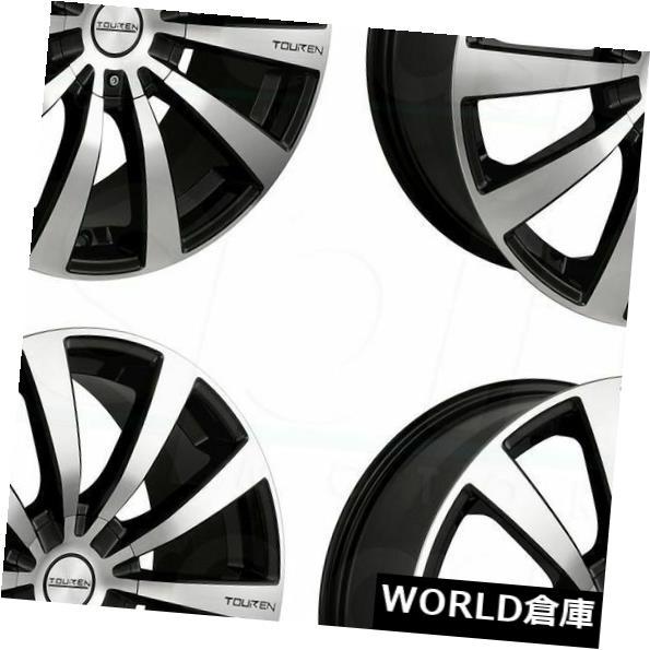 海外輸入ホイール 17x7 Touren TR3 5x110 / 5x115 40ブラックマシニングホイールリムセット(4) 17x7 Touren TR3 5x110/5x115 40 Black Machined Wheels Rims Set(4)