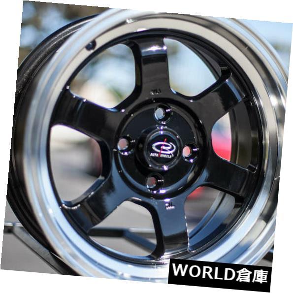 優れた品質 海外輸入ホイール 15x7 4x100 Rota Grid V 4x100 4x100 V 20ロイヤルブラックホイールリムセット(4) 15x7 Rota Grid V 4x100 20 Royal Black Wheels Rims Set(4), ビースタービー:7e537e88 --- mail.durand-il.com
