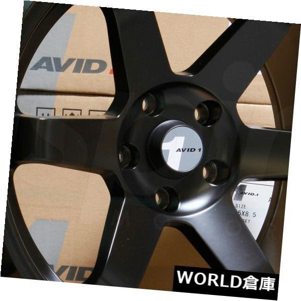 割引クーポン 海外輸入ホイール 18x8.5 Set(4) AVID1 AV06 AV-06 5x100 35マットブラックホイールリムセット(4) 5x100 18x8.5 18x8.5 AVID1 AV06 AV-06 5x100 35 Matte Black Wheels Rims Set(4), 豊山町:4eab060b --- estoresa.co.za