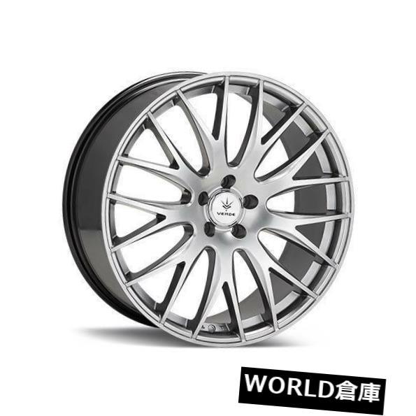 海外輸入ホイール 17x7.5 Verde V27 Saga 5x108 40ハイパーシルバーホイールリムセット(4) 17x7.5 Verde V27 Saga 5x108 40 Hyper Silver Wheels Rims Set(4)