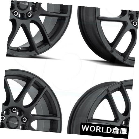 100 %品質保証 海外輸入ホイール 17x7.5 Mystique Raceline 141B Mystique Black 5x108 Set(4)/ 5x114.3 40ブラックホイールリムセット(4) 17x7.5 Raceline 141B Mystique 5x108/5x114.3 40 Black Wheels Rims Set(4), ロデオドライブ:2e6291f6 --- ecommercesite.xyz