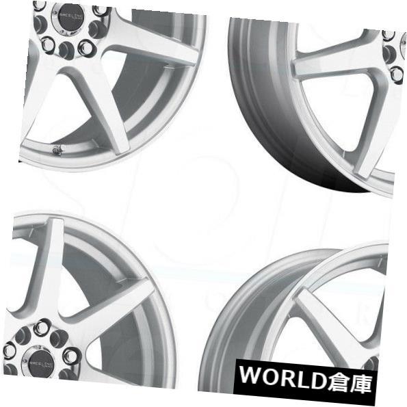 ★お求めやすく価格改定★ 海外輸入ホイール 17x7.5/ Raceline 131S Wheels Evo 5x112 Evo/ 5x120 40シルバーホイールリムセット(4) 17x7.5 Raceline 131S Evo 5x112/5x120 40 Silver Wheels Rims Set(4), ルータービット取っ手 ディグラム:0808a3bf --- learningcentre.co