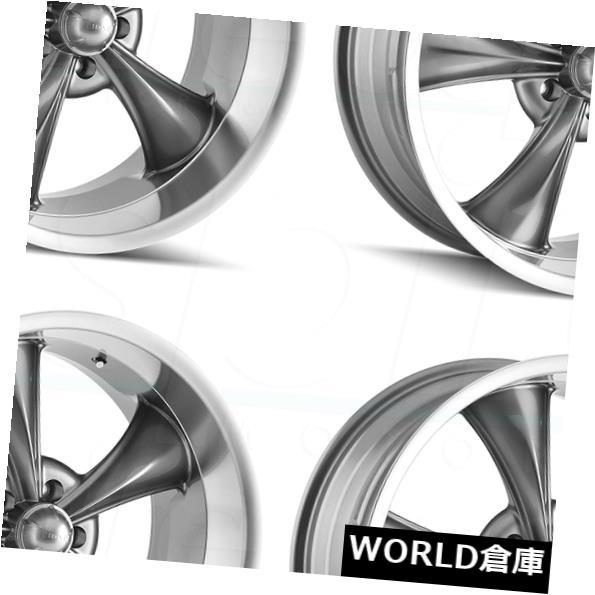 【特別セール品】 海外輸入ホイール 17x7ライダー695 Ridler 0 5x114.3 0ガンメタルホイールリムセット(4) 17x7 Ridler Set(4) 695 5x114.3 0 Gunmetal Wheels Rims Set(4), レザークラフト一革:f951f006 --- mail.durand-il.com