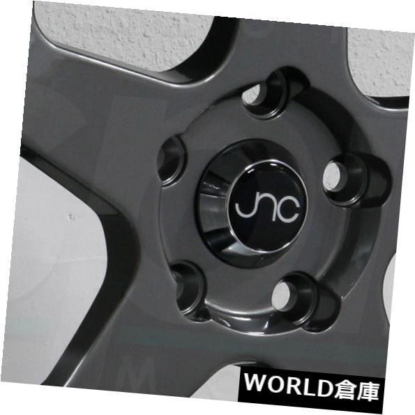 【送料無料】 海外輸入ホイール 16x9 JNC 010 JNC010 4x100 / 4x114.3 15ガンメタルマシンリップホイールリムセット(4) 16x9 JNC 010 JNC010 4x100/4x114.3 15 Gunmetal Machine Lip Wheel Rims set(4), とうりんパレット 7527c809
