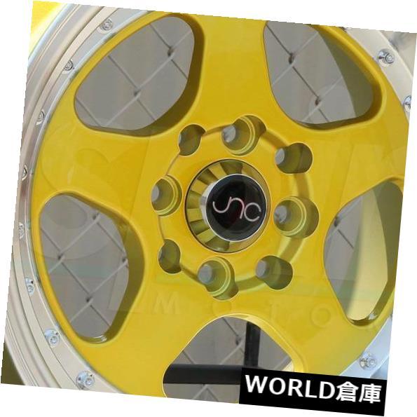 今季一番 海外輸入ホイール 16x9 JNC 010 JNC010 4x100 / 4x114.3 15キャンディゴールドマシンリップホイールNew set(4) 16x9 JNC 010 JNC010 4x100/4x114.3 15 Candy Gold Machine Lip Wheel New set(4), タカハマチョウ a133dbb7