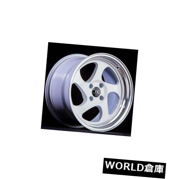 新品登場 海外輸入ホイール 16x9 JNC 034 JNC034 4x100 20ホワイトマシンリップホイールリムセット(4) 16x9 JNC 034 JNC034 4x100 20 White Machine Lip Wheel Rims set(4), タイヤ屋マルキ商店 56691b80