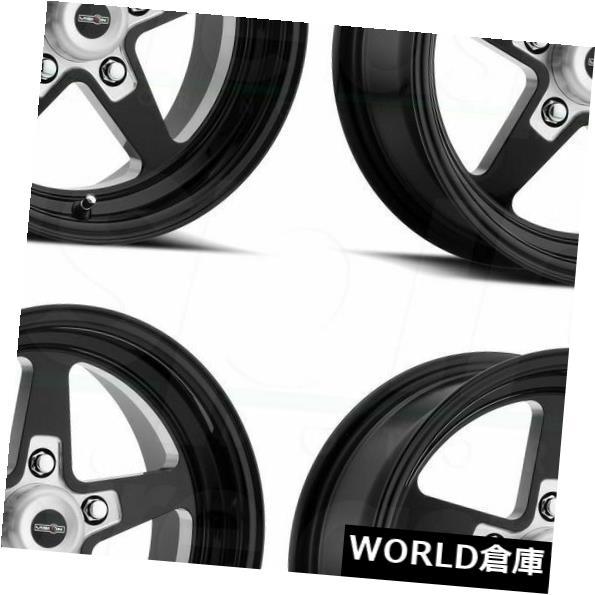 超大特価 海外輸入ホイール 15x10 Vision 571 Sport Star II 5x114.3 0ブラックミルドホイールリムセット(4) 15x10 Vision 571 Sport Star II 5x114.3 0 Black Milled Wheels Rims Set(4), シバタシ 70d68cd2