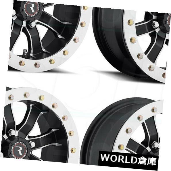 人気ブラドン 海外輸入ホイール 12x7 Raceline A71 Mamba Beadlock 4x115 10ブラックホイールリムセット(4) 12x7 Raceline A71 Mamba Beadlock 4x115 10 Black Wheels Rims Set(4), おぶつだんの志喜屋 ee44b1ae