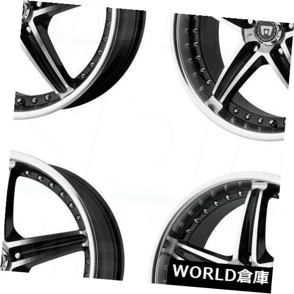 人気No.1 海外輸入ホイール 16x7 Motegi MR107 5x112 45ブラックマシンホイールリムセット(4) 16x7 Motegi MR107 5x112 45 Black Machine Wheels Rims Set(4), お宝レア物専門! おもちゃ屋 a96fdd54