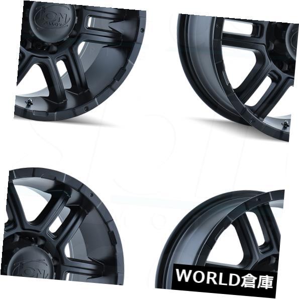 【第1位獲得!】 海外輸入ホイール 17x8イオン179 Wheels 5x114.3 Matte 10マットブラックホイールリムセット(4) 17x8イオン179 17x8 Ion 179 5x114.3 10 Matte Black Wheels Rims Set(4), UNIT:d28a4340 --- verandasvanhout.nl