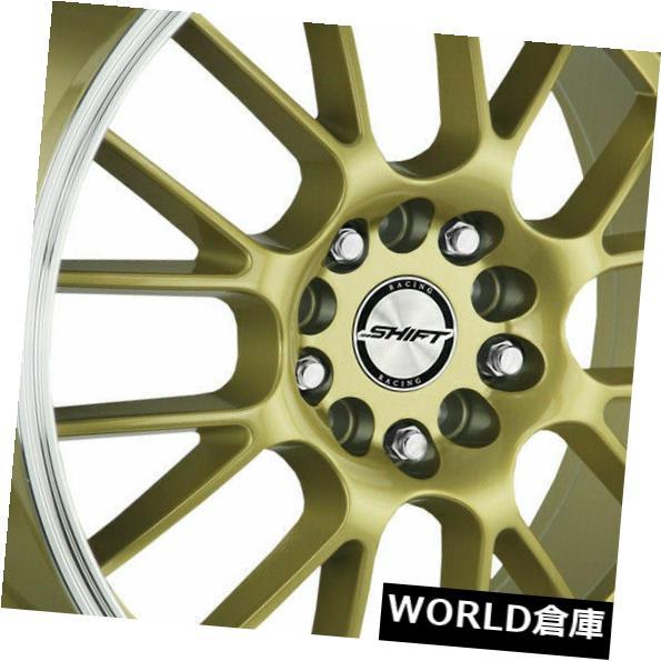 【国内在庫】 海外輸入ホイール 17x7.5シフトH28クランク5x100 / 5x114.3 30ゴールドポリッシュリップホイールリムセット(4) 17x7.5 Shift H28 Crank 5x100/5x114.3 30 Gold Polished Lip Wheels Rims Set(4), 卓球通販たくつう 5dba1ba9