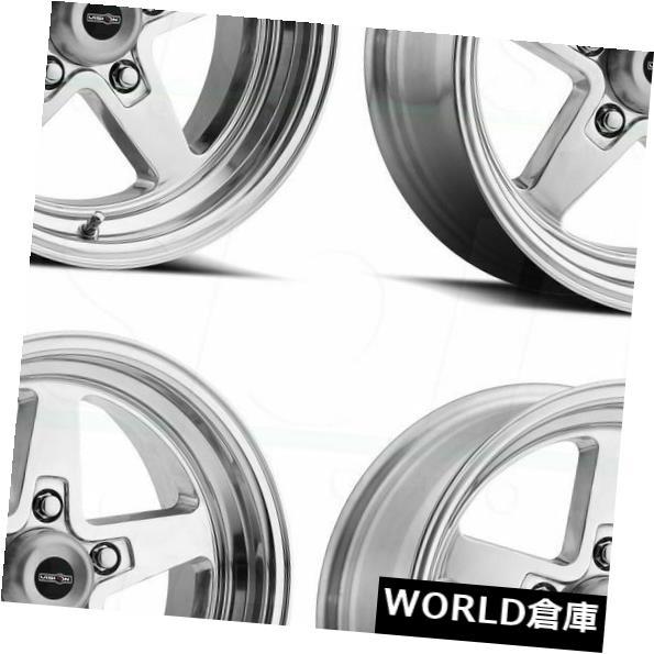 海外輸入ホイール 15x8 Vision 571 Sport Star II 5x4.75 27ポリッシュホイールリムセット(4) 15x8 Vision 571 Sport Star II 5x4.75 27 Polished Wheels Rims Set(4)