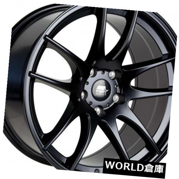 海外輸入ホイール 17x9 MST MT30 5x114.3 30マットブラックホイールリムセット 4 17x9 MST MT30 5x114.3 30 Matte Black Wheels Rims Set 4