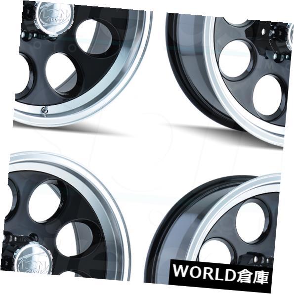 車用品 バイク用品 好評 >> タイヤ ホイール 海外輸入ホイール 17x9イオン171 8x170 0ブラックマシンドリップホイールリムセット 4 Wheels Ion 171 0 購入 Machined 17x9 Rims Lip Black Set