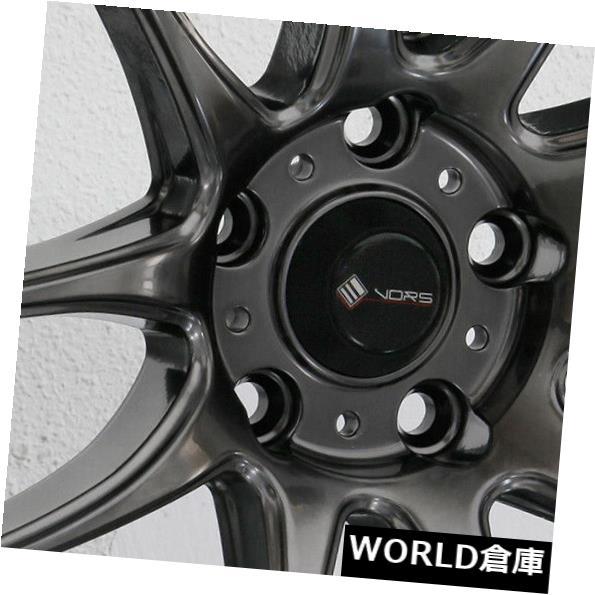【即日発送】 海外輸入ホイール 17x8 5x114.3 Vors TR4 5x114.3 35ハイパーブラックホイールリムセット(4) Set(4) 17x8 Vors Vors TR4 5x114.3 35 Hyper Black Wheels Rims Set(4), 福袋:923a0706 --- rednuncamais.online