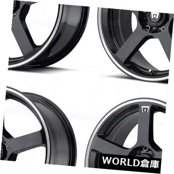 車用品 バイク用品 >> タイヤ ホイール 海外輸入ホイール 16x7 新作販売 Motegi MR116 4x100 Wheels 10%OFF Machine 40 4 40の黒いマシンホイールリムセット Rims Set Black 4x114.3